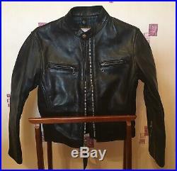 Vintage Vanson Leathers Veste en Cuir Motorcycle