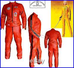 Womens Kill Bill Slim Fit Armure Moto / Veste Cuir Moto / Suit