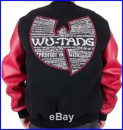 Wu-wear PROTECT YA cou Varsity Collège Blouson bomber veste rouge noir