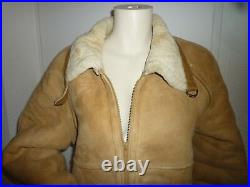 X07/ BLOUSON/Manteau/Veste/PEAU Mouton cuir/daim Leather LAINEE/SHERPA 44/46