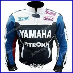YAMAHA Courses Moto Cuir Veste Biker Cuir Veste Hommes Vetement en Cuir Motorike