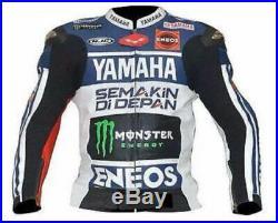 YAMAHA ENEOS Veste Motard en Cuir Veste en Cuir Moto Veste en Cuir de Motard 50