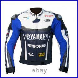 YAMAHA PETRONAS Veste en Cuir de Motard Hommes Courses Veste en Cuir de Moto 54
