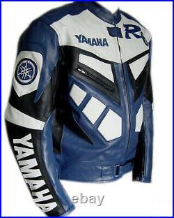 YAMAHA R6 Veste Motard en Cuir Veste en Cuir Moto Veste en Cuir de Motard 50,56