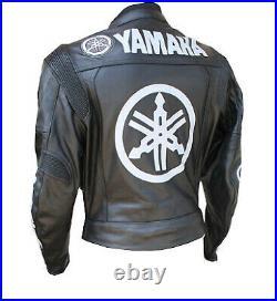 YAMAHA Vestes de Motard en Cuir Veste en Cuir de Moto Veste en Cuir de Motard 54