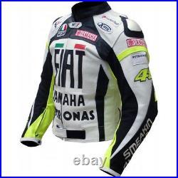 Yamaha Courses Moto Cuir Veste Biker Cuir Veste Vêtement En Cuir Motorbike Eu-52