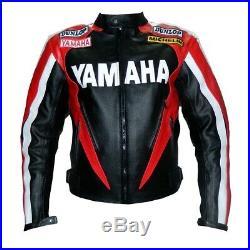 Yamaha Hommes Motor Veste En Cuir Moto Chaqueta De Cuero Motorrad Leder Jacke