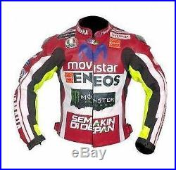 Yamaha Hommes Motor Veste En Cuir Moto Chaqueta De Cuero Motorrad Leder Jacke Ce