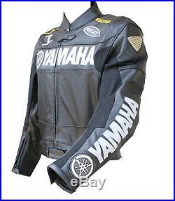 Yamaha Motard Hommes Veste En Cuir Giacca di Pelle Moto Chaqueta de Cuero Moto