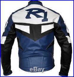 Yamaha R1 Moto Cuir Veste Biker Cuir Veste Vêtement En Cuir Motorbike Eu 48,56
